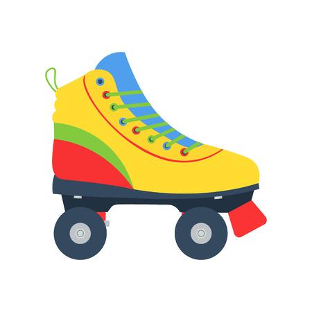 Roller skates illlustration . Roller skate vector icon isolated. Flat style roller skate.