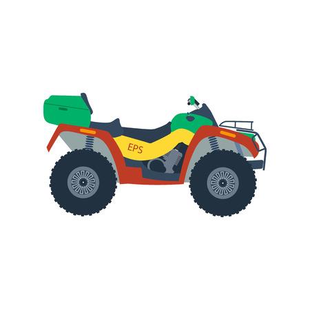 moto: Vector ATV illustration. Atv moto isolated on white background.