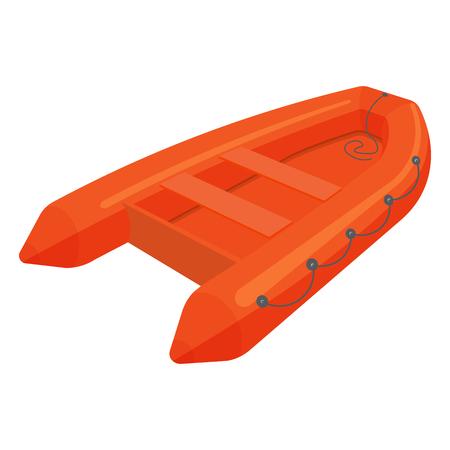 Rettungsboot Illustration auf einem weißen Hintergrund