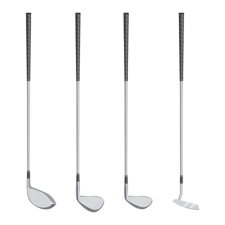 golf clubs illustration isolated on a white background
