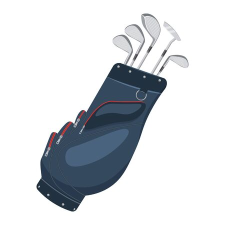 sod: Golf bag illustration isolated on a white background