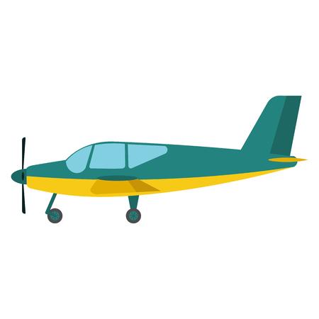 light aircraft: Light aircraft vector illustration. Green Light aircraft on white background. Light aircraft vector. Aircraft illustration. Light aircraft isolated vector Illustration