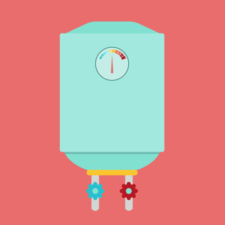 boiler: Boiler flat style vector illustration .Boiler icon on white background. Boiler isolated vector