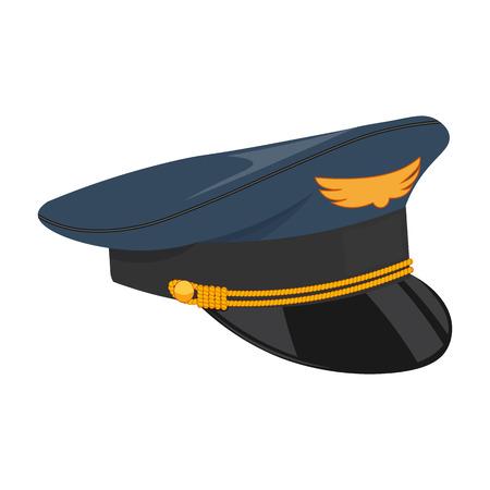 Pilot Kappe Vektor-Illustration auf einem weißen Hintergrund Vektorgrafik