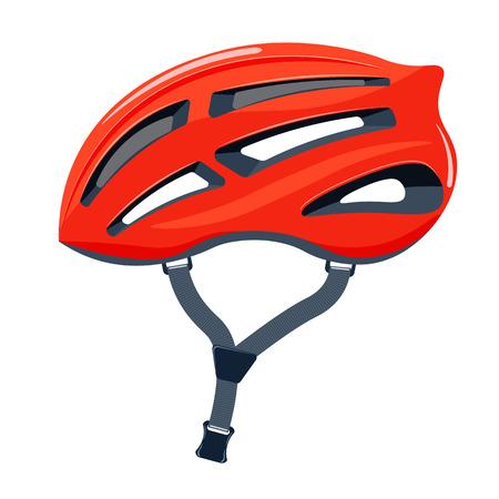 Fahrradhelm Vektor-Illustration. Fahrradhelm auf einem weißen Hintergrund