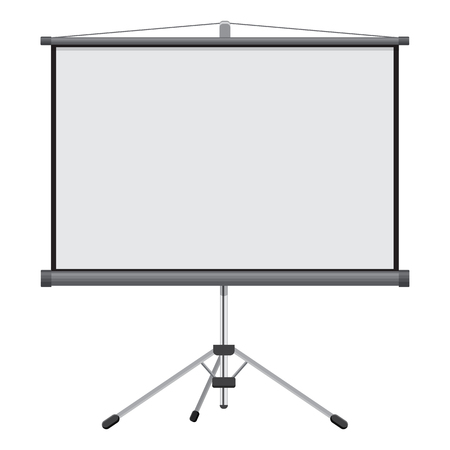 screen: Blank Projection screen vector illustration isolated on a white background
