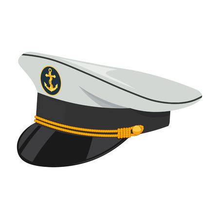 admiral: Captain hat vector illustration isolated on a white background