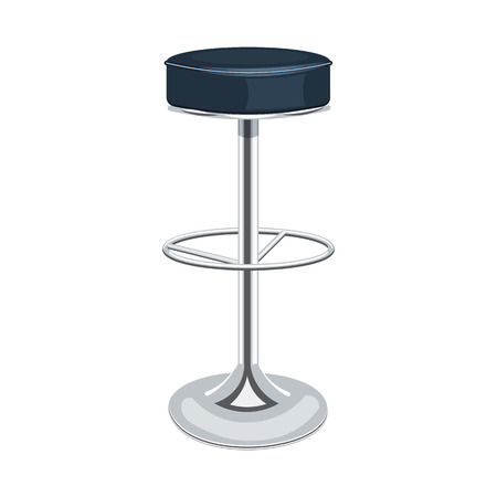 metal legs: Bar chair vector illustration isolated on a white background