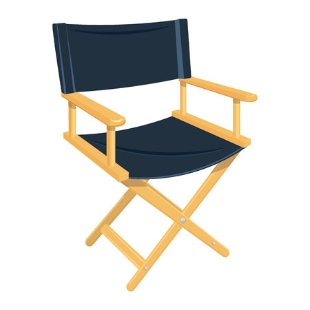 video still: director chair illustration isolated on a white background Illustration