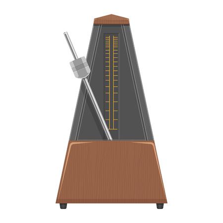 Metronome illustration isolated on a white background Illustration