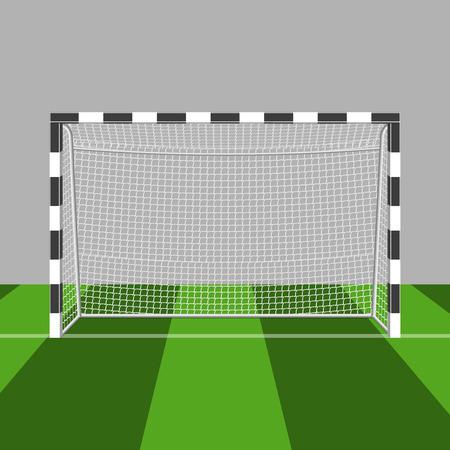 白い背景で隔離のサッカー ゲート図