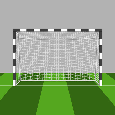 winning pitch: soccer gate illustration isolated on a white background Illustration