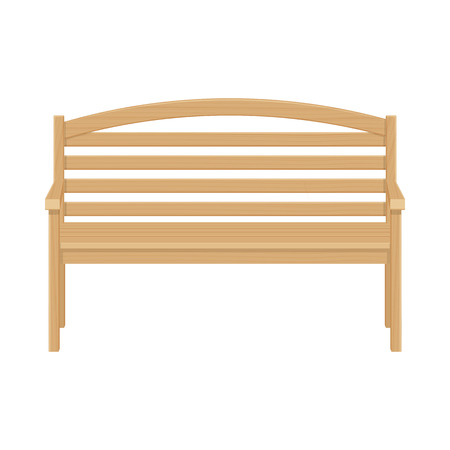 park bench: Wooden park bench  illustrsation isolated on a white background