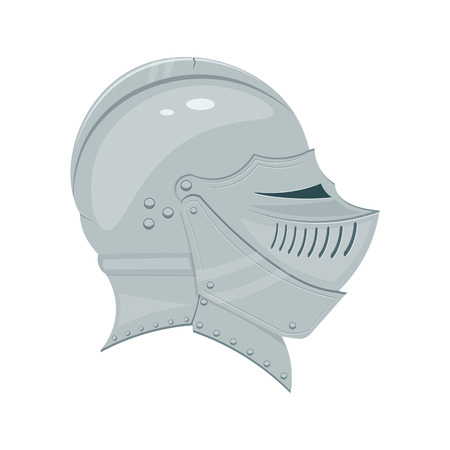 medieval knight helmet illustration isolated on a white background