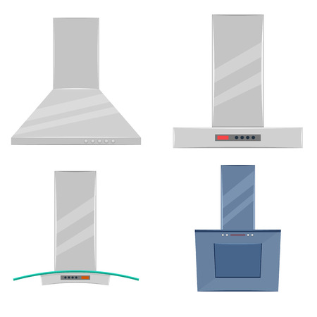 extractor: Kitchen extractor hood illustration isolated on a white background