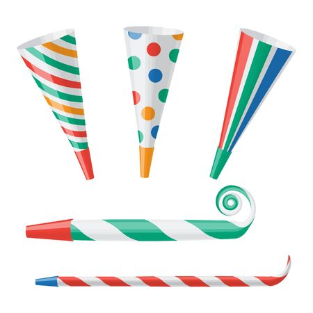 party horn blower: Party horn illustration isolated on a white background Illustration