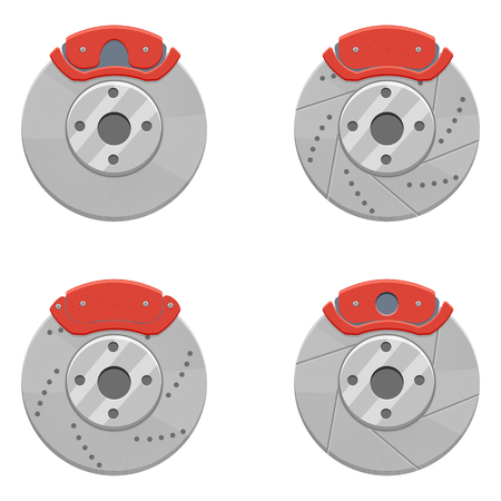 Car Brake set illustration isolated on a white background