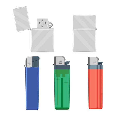 lighters set illustration isolated on a white background