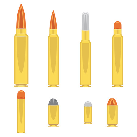Bullets set illustration isolated on a white background