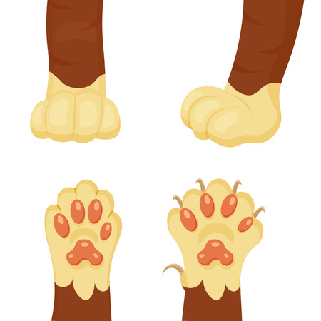Cat foot cartoon illustration isolated on a white background 向量圖像