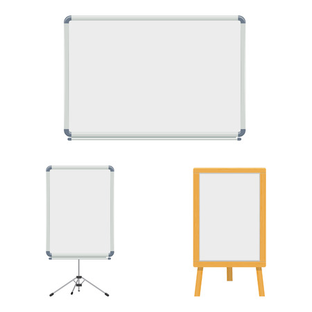 white marker board set vector illustration isolated on a white background
