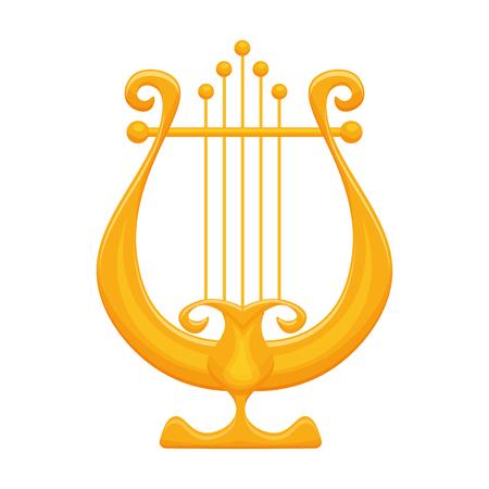 D'oro illustrazione vettoriale Lyre isolato su uno sfondo bianco