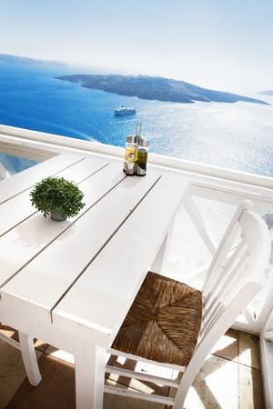 Prachtig uitzicht, Santorini Stockfoto