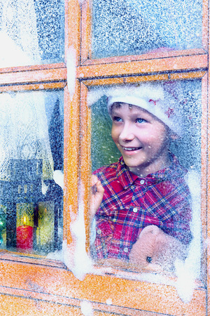 Boy waiting for Santa Claus