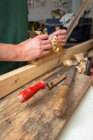 planer: Carpenter with planer