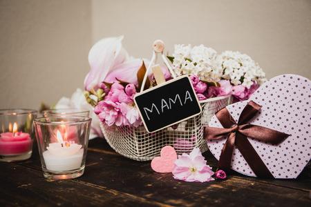 Een mooi geschenk voor moeder Stockfoto
