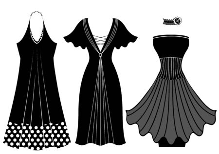 Fashion woman dresses black silhouette
