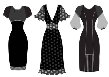Dresses woman clothes Illustration