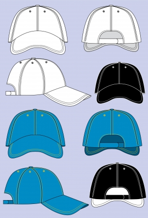 baseball caps isolated for design