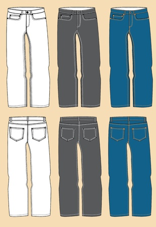Jeans for man modern clothes isolated Stock Vector - 18639303