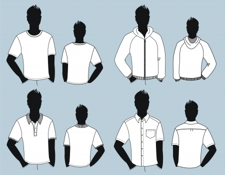 casual clothes for man isolated for design Stock Vector - 18639062