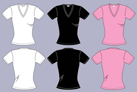 T-shirts for woman clothes isolated for design