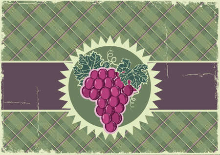 old fashioned vegetables: Grapes  Vintage background