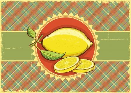 old fashioned vegetables: Lemons background