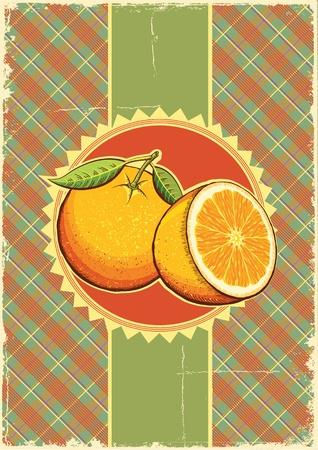 old fashioned vegetables: Orange fruits Vintage