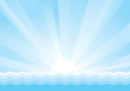 Sun and sea Seascape background for design