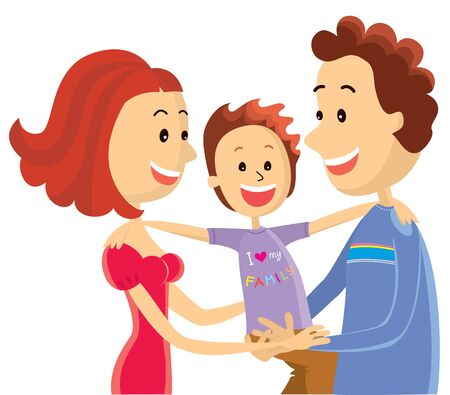 Happy family.color illustration