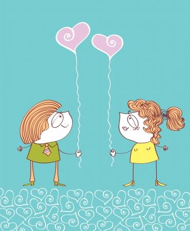 women s day: Valentin Illustration