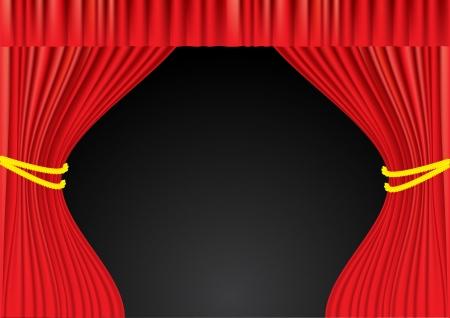 backgrund: Theater red curtains backgrund  Mesh Illustration