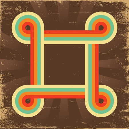 Retro abstract background for design on old paper texture Stock Illustratie