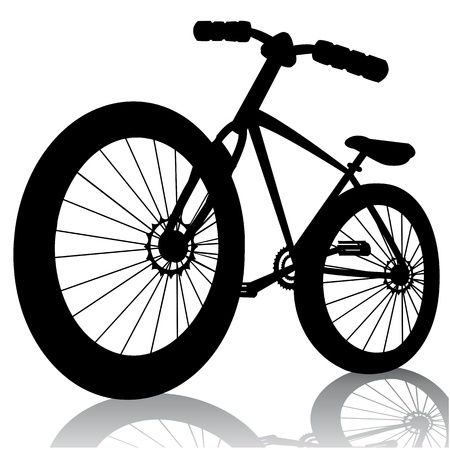 cycle race: bike silhouette Vector bicycle isolated on whitefor design Illustration