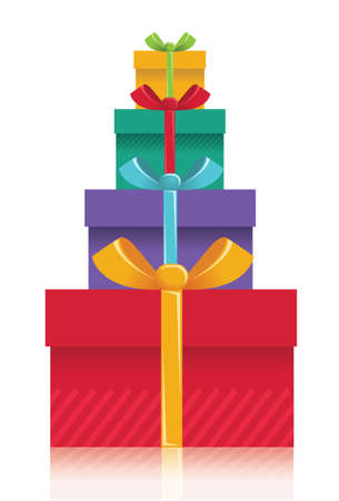 Gift boxes background. Illustration