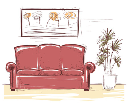 Interior color image. Illustration