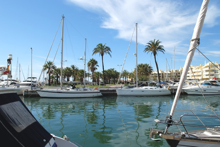 Benalmadena Marina, Costa del Sol, Spain Stock Photo