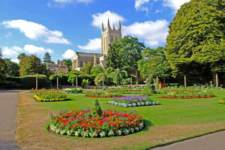 Bury St.Edmunds Cathedral and The Abbey Gardens.