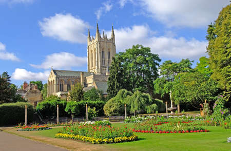 Bury St. Edmunds Cathedral and The Abbey Gardens.